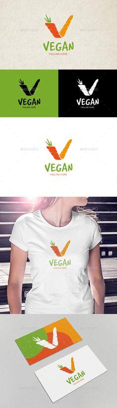 Vegan Logo — Vector EPS #naturally #fresh • Available here → https://graphicriver.net/item/vegan-logo/14177279?ref=pxcr