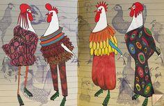 Ronaldo Fraga, Illustrators, Rooster, Creative, Prints, Animals, Inspiration, Portfolio, Sketchbooks