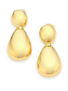 Kenneth Jay Lane Two-Tier Drop Earrings