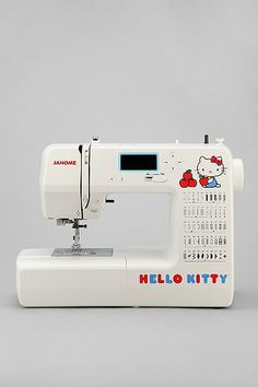 Really?!? I would still want a Bernina but...Janome 15822 Hello Kitty Sewing Machine