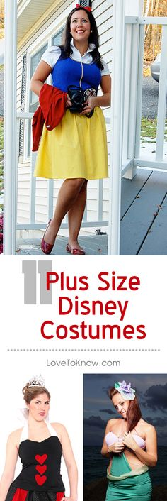 Women looking for Disney costumes in plus sizes have a great range of choices, including fun classic characters, the always-popular Disney princesses, and even notorious villains. Whether it's for cosplay, Halloween, or another costume event, there are many choices when it comes to Disney costumes. | 11 Plus Size Disney Costumes from #LoveToKnow