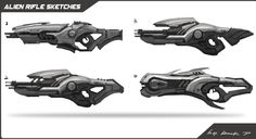 I did these guns for a cancelled project long time ago,just hope your guys like it! BTW,I got a lot of inspiration from HALO,the Silhouettes of the weapons in it are really interesting!