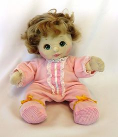 """1980's MATTEL 14"""" Fully Jointed Soft Sculpture MY CHILD Doll: Blonde, Green Eyes #Mattel #DollswithClothingAccessories"""