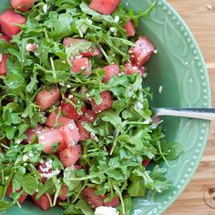 Ina Garten's arugula and watermelon salad.