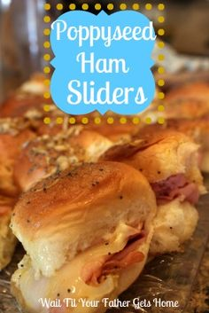 Coworker made these today for potluck - zomg! These are no ordinary ham & cheese samiches!