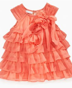 orange dress for baby girl