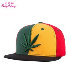 a94be01d1c4 Click to Buy    Men Women Hip Hop Caps Weed Flat Street Cap