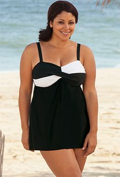 a947420a2238c Delta Burke White Twister Swimdress - swimsuitsforall Swimsuits For All, Plus  Size Swimsuits, Women