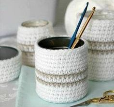 Crochet Cover Glass - Tutorial ❥ 4U // hf