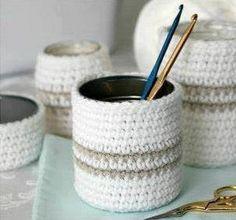 Crochet Cover Glass - Tutorial ❥ 4U // hf