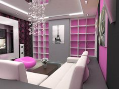 Pink Living Room Design