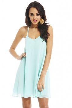 MINT CHIFFON SWING DRESS shop this look: shopmodmint.com