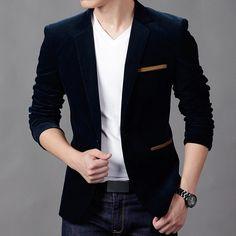 NEW Mens Fashion Brand Blazer British's Style casual Slim Fit suit jacket male Blazers men coat Terno Masculino Plus Size Mens Fashion Blazer, New Mens Fashion, Men Blazer, Blazer Jacket, Jacket Men, Tuxedo Jacket, Fashion Suits, Mens Blazer Styles, Windbreaker Jacket