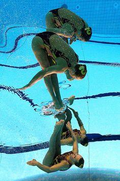 Olympic Synchronized Swimming Photos Flipped Upside Down flippedsynchro2 mini