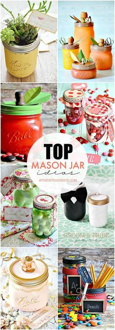 Beautiful Mason Jars and Handmade Gift Idea for any occasion. There is so much you can do with Mason Jars and making handmade gifts is one of my favorite things to do with them! Inspired by Spring and Wine Bottle Crafts, Jar Crafts, Diy And Crafts, Bible Crafts, Mason Jar Gifts, Mason Jar Diy, Uses For Mason Jars, Mason Jar Projects, Diy Hanging Shelves