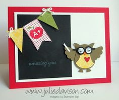 Back to School Inspired Owl Punch Art--teacher appreciation