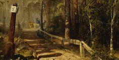 Werner Holmberg (1830-1860) Postitie Hämeessä / Mail Road in Häme. Close-up. 1860 - Finland - Finnish horses ... kokoelmat.fng.fi