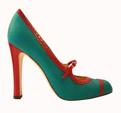 turquoise + orange - Manolo Blahnik. I'm not wearing heels with my wedding gown, but if I was these are the perfect colors!