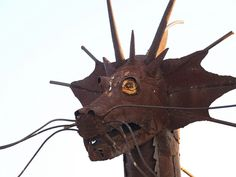 Houston Texas Pipe & Supply Folk Art with Welded steel 2011 metal sculptures by mrchriscornwell, via Flickr