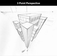 3 point perspective by ErinClayton on DeviantArt Perspective Drawing Lessons, Perspective Sketch, 3d Art Drawing, Basic Drawing, Perspective 3 Points, House Design Drawing, Architecture Concept Drawings, Art Prompts, Images