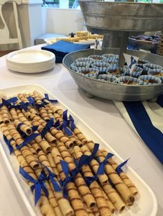 Graduation cookies BYU graduation party blue and white