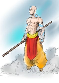 Adult Avatar Aang aka All Awesome Airbender by Sketchydeez on @DeviantArt