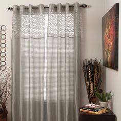 Shop Wayfair for Lavish Home Sonya Sheer Single Curtain Panel with Grommet Top - Great Deals on all Decor products with the best selection to choose from!