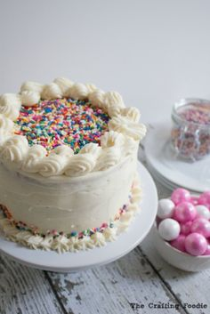 A Vanilla Bean Homemade Funfetti Cake is the perfect dessert for any occasion. Cupcakes, Cupcake Cakes, Yummy Treats, Sweet Treats, Cake Recipes, Dessert Recipes, Sweet Desserts, Dessert Parfait, Pie Crumble