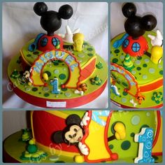 TORTA DECORADA EL CLUB DE MICKEY MOUSE | TORTAS CAKES BY MONICA FRACCHIA