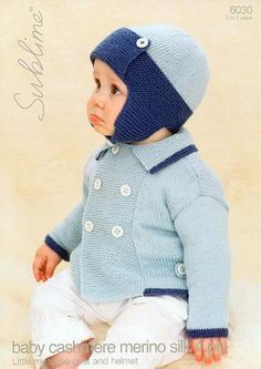 Hand Knitted Wool /& Cashmere de perles baby hat 12-24 mois 1-2 ans