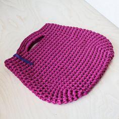 Pink Crochet Purse by KnitKnotKiev on Etsy