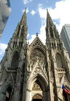 St Patricks Cathedral on Fifth Avenue in New York City.
