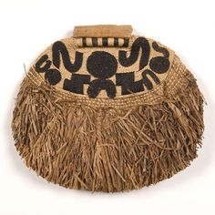 Mangbetu Womans Ornament (Negbe, pl. Egbe) Uele Region, Northeast DR Congo Plant fibers including raffia, plantain leaves Embroidery and applique Early 20th century