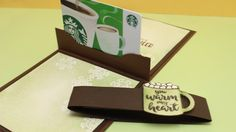 Pop-Up Gift Card Holders - YouTube