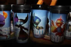 Skylander Drink mugs using cups from michaels ( insertable pictures)