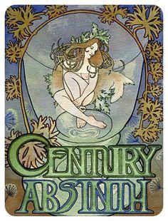 absinthe art | Art Nouveau Absinthe Poster | Soldered Pendant Ideas