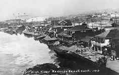 High Tides | South Bay Cities Council of Governments Redondo Beach Pier, Redondo Beach California, California History, Southern California, Hermosa Beach, Bay City, High Tide, Old Photos, Paris Skyline