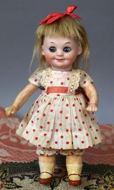 """7"""" Bisque Head Beauty Googly 323 by Armand Marseille Antique Doll"""