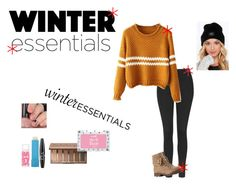 """""""The Winter Essentials"""" by purple-star31 ❤ liked on Polyvore featuring moda, Topshop, OBEY Clothing, Maybelline, Urban Decay, Barry M e NYX"""