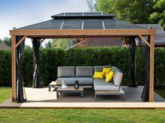 Gazebo Axel x Gazebo, Pergola, Outdoor Furniture, Outdoor Decor, Backyard, Home Decor, Arquitetura, Screen Doors, Galvanized Steel