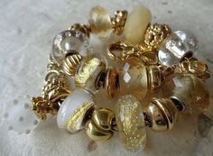 """A beautiful """"winter"""" pendant with gold"""
