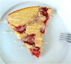 Local Savour Warm Strawberry Skillet Cake by Local Savour