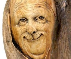 Nancy Tuttle wood carving