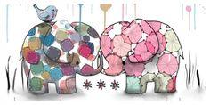 30 позитивных слонов: яркие иллюстрации Karin Taylor - Ярмарка Мастеров - ручная работа, handmade