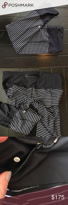 Lululemon Runday Crop! Rare! Parallel Stripe sz 8 Rare, coveted lulu pants! Only selling because I need a smaller size. Most amazing pant ever! Comes with original tags. In very good condition. lululemon athletica Pants Ankle & Cropped