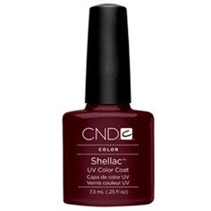 CND Shellac UV Color Coat Gel Nail Polish Dark Lava Color 0.25 oz
