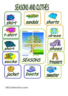 SEASONS AND CLOTHES