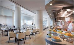 With the addition of a brand new West Tower, the former Hyatt Regency Incheon has rebranded as Grand Hyatt Incheon and now offers five unique drinking and New West, Grand Hyatt, Incheon, Fine Dining, Table Settings, Table Decorations, Luxury, Furniture, Laundry Service