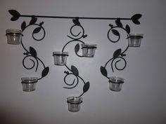 PARTYLITE VERONA VERSATILITY SCONCE WITH GLASS TEALIGHT VOTIVE CUPS P9202