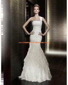 Sexy Brautkleid aus Satin im Meerjungfrauenstil Einschulter online 2013